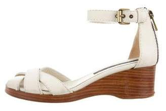 Marc by Marc Jacobs Leather Round-Toe Sandals