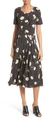 Women's The Kooples Floral Print Silk Dress $595 thestylecure.com