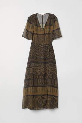 H&M Long Wrap Dress - Green