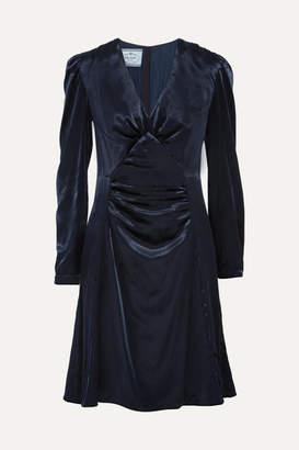 Prada Ruched Velvet Dress - Midnight blue
