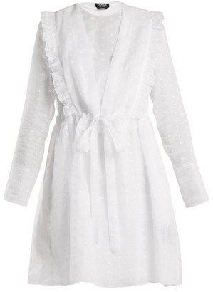 Calvin Klein Broderie Anglaise Cotton Organza Dress - Womens - White