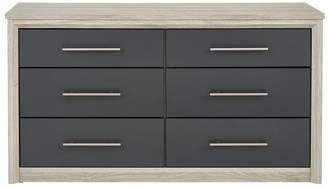 Consort Furniture Limited Jupiter Ready Assembled 3 + 3 Drawer Chest