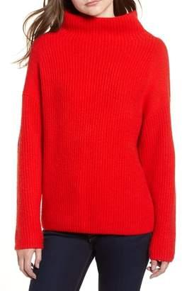 Trouve Rib Funnel Neck Sweater