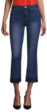 FRAME Le Cropped Mini Bootcut Released Hem Jeans $239 thestylecure.com