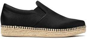 Dkny Woman Textured Satin Espadrille Sneakers Black Size 7 DKNY Best Sale Online ScTlmB