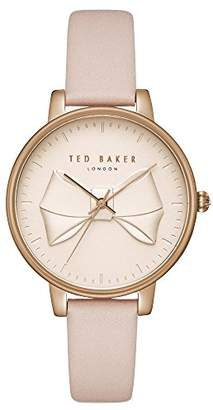 Ted Baker Womens Analogue Quartz Watch with Leather Strap TEC0185001
