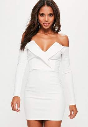 Missguided Bardot Foldover Wrap Dress