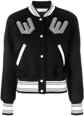 Off-White patch bomber jacket