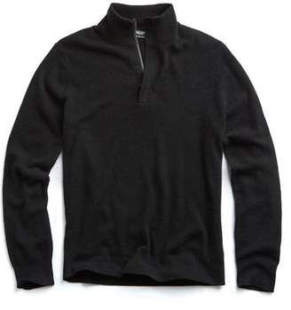 Todd Snyder Cashmere Half-zip Sweater in Black