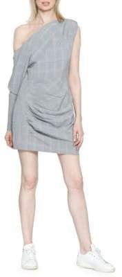 Lindsey Plaid One-Shoulder Dress