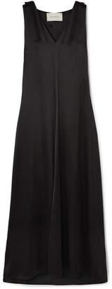 Cédric Charlier Satin Maxi Dress - Black