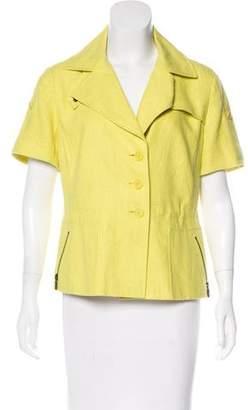 Akris Punto Linen Button-Up Top