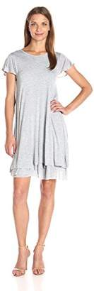 Kensie Women's Sheer Viscose Layered Dress $25.50 thestylecure.com