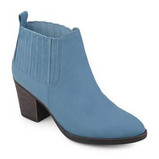 Journee Collection Womens Sero Bootie Stacked Heel Pull-on