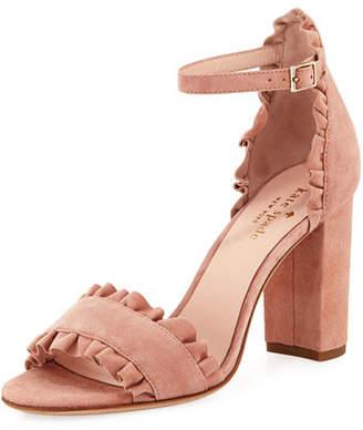 Kate Spade Odele Suede Ruffle City Sandal