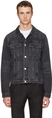 Helmut Lang Grey Denim Mr. 87 Jacket $390 thestylecure.com
