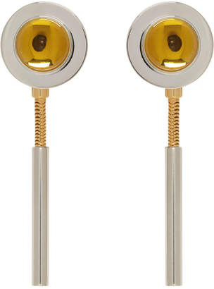 Marni Yellow and Silver Resin Chain Earrings