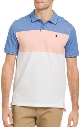 Izod Quick Dry Short Sleeve Stripe Pique Polo Shirt