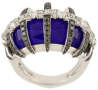 Stephen Webster 18kt white gold, lapis lazuli and diamond ring