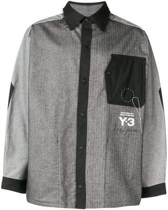 Y-3 Hbone distressed shirt