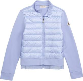 Moncler Maglia Quilted Down & Knit Cardigan