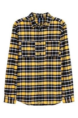 H&M Flannel Shirt - Yellow/black plaid - Men