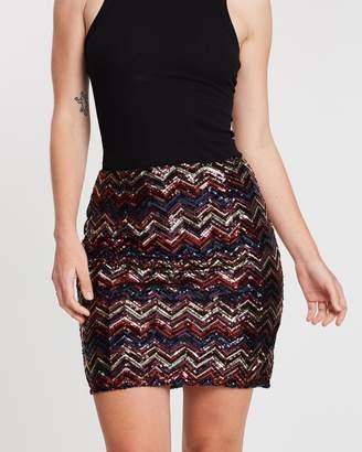 Dorothy Perkins Zig-Zag Sequin Mini Skirt