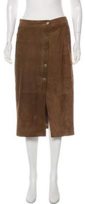 AllSaints Leather Knee-Length Skirt