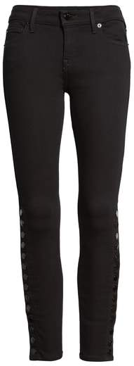 True Religion Brand Jeans Halle Snap Ankle Super Skinny Jeans