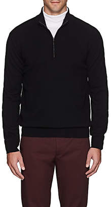 Barneys New York Men's Cashmere Half-Zip Sweater - Black