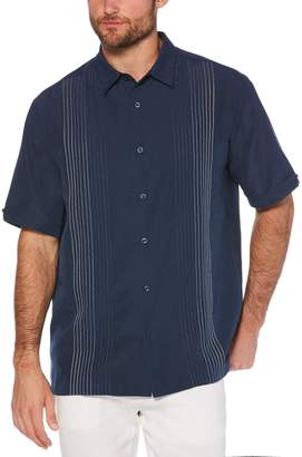 Cubavera Ombre Embroidered Stripe Shirt
