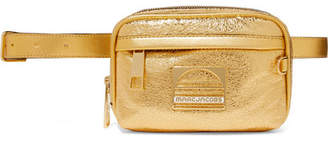 Marc Jacobs Sport Metallic Textured-leather Belt Bag - Gold