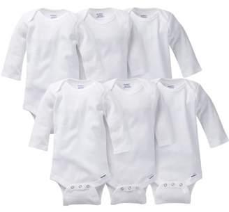 Gerber Newborn Long Sleeve Onesies Bodysuits, 6pk (Baby Boys or Baby Girls, Unisex)