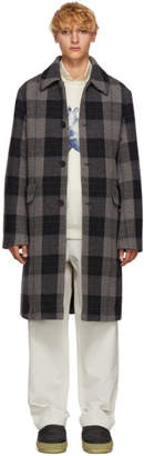 Acne Studios Grey Wool Check Coat