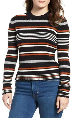 BP Ribbed Lettuce Edge Stripe Sweater