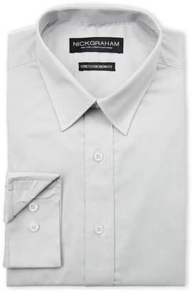 Nick Graham Grey Stretch Modern Fit Dress Shirt