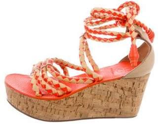 Tory Burch Wrap-Around Wedge Sandals