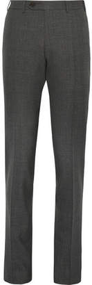 Canali Grey Milano Slim-fit Wool Trousers