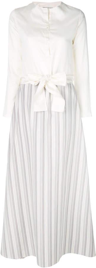 Daniela Pancheri bow waist shirt dress