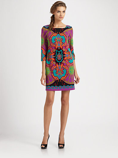 Aidan Mattox Printed Dress