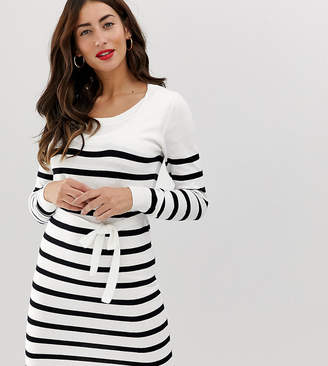 Mama Licious Mama.Licious Mamalicious nursing stripe knitted dress