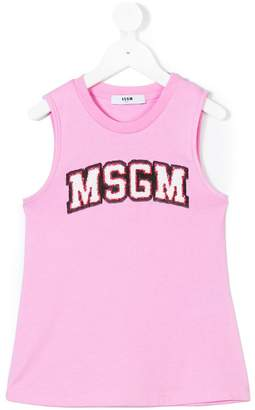 MSGM logo patch vest top