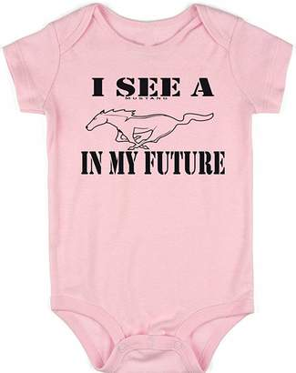 VRW I See a Mustang in My Future Unisex Baby Onesie Romper Bodysuit Funny