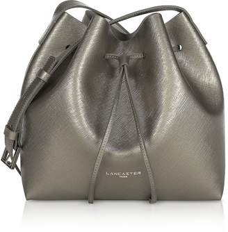 Lancaster Paris Pur & Element Metallic Saffiano Leather Small Bucket Bag
