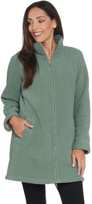 Denim & Co. Petite Chenille Fleece Bonded w/ Sherpa Jacket