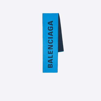 Balenciaga Bicolor oblong scarf with logo