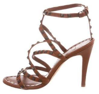Manolo Blahnik Studded Leather Sandals Studded Leather Sandals