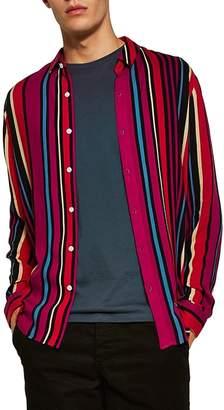 Topman Stripe Classic Fit Sport Shirt