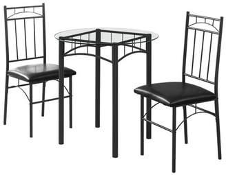 Monarch Specialties 3 Piece Dining Table Set