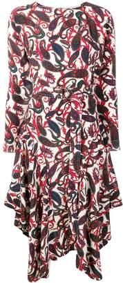 Chloé belted paisley midi dress